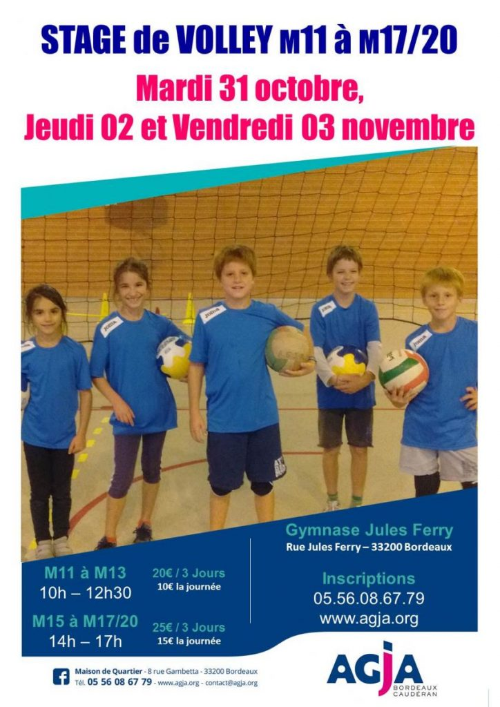 Affiche stage toussaint 2017 volley
